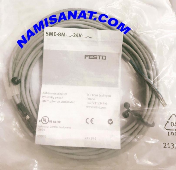 SME-8M-DS-24V-K-5,0-OE, SME-8M-DS-24V-K-5,0-OE ,SME-8M-DS-24V-K-5,0- , SME-8M-DS-24V-K-5, SME-8M-DS-24V-K- , SME-8M-DS-24V , SME-8M-DS , SME-8M , SME , Proximity Sensor , Festo, 543863 , Electric, with reed contact, for drives with,sme, T-slot, assembly from above, with cable ,